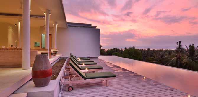 Sunset View From Salza Resto& Kamana Infinity Pool