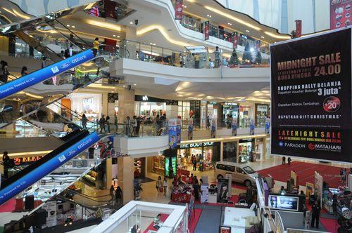 Suasana di dalam Mall Paragon Semarang