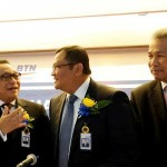 Direktur Bank BTN Mansyur S. Nasution (kanan)