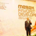 Menteri Perindustrian MS Hidayat dalam acara Penghargaan Merek Favori Developer 2014