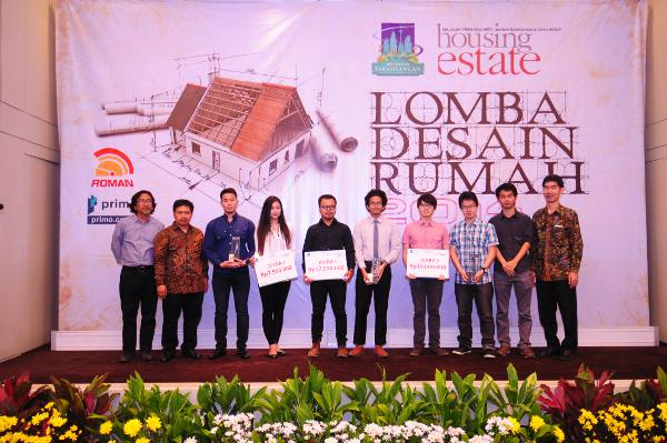 Para pemenang Lomba Desain Rumah HousingEstate 2014 Kategori Mahasiswa