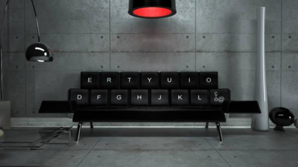sofa unik, sofa keyboard