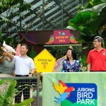 Desmond Lee saat peresmian Jurong Bird Park
