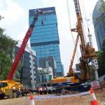 Pengerjaan proyek MRT Jakarta