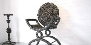 Kursi unik terbuat dari rantai sepeda Bekas1
