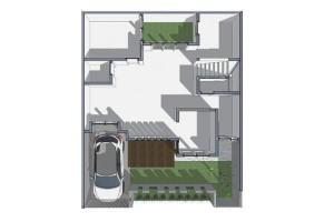 rumah dua atap dan kolam konservasi air