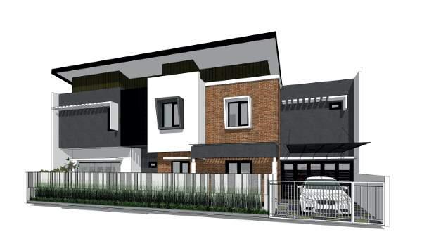 Rumah Modern Hangat Di Lahan Melebar