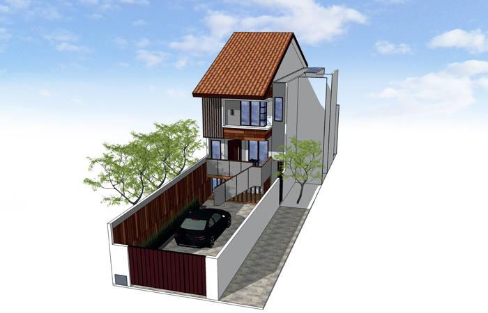 Rumah Split Level Di Lahan Sempit