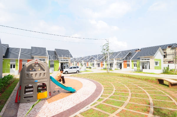 Perumahan di Cileungsi, Bogor-Jawa Barat: Generasi milenial adalah pembeli rumah pertama untuk dihuni sendiri (end user) yang selama ini menjadi pasar utama KPR BTN. (Foto: SusiloWaluyo/HousingEstate).
