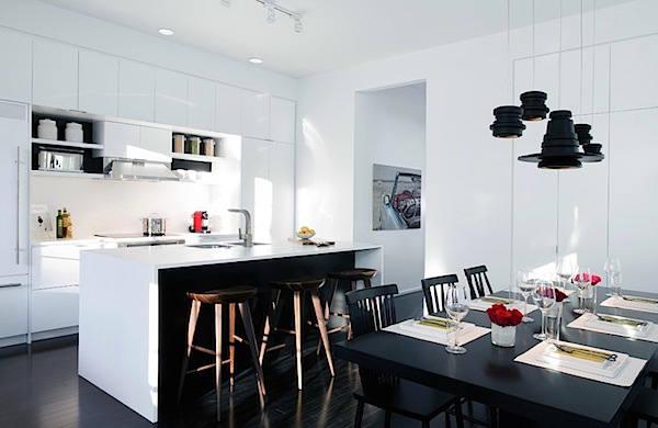 Desain Interior Rumah Panggung Minimalis  gaya monokrom nan elegan untuk ruangan rumah