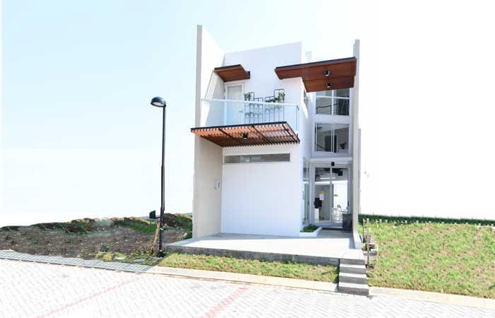 Fasad rumah simpel modern