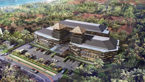 Tampak depan bakal gedung The Nusa Dua Crea 24/7 Office Resort yang rencananya dibangun di kawasan ITDC, Nusa Dua, Badung, Bali. Foto: Dok. PT Agung Panorama Properti