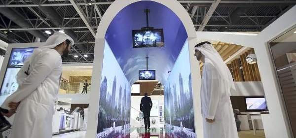 Ilustrasi lorong aquarium di Bandara Internasional Dubai (Foto: The National)