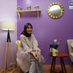 Zaskia Adya Mecca usai peluncuran produk cat terbaru AkzoNobel di Jakarta, Kamis (12/10). (Foto: Dok. AkzoNobel)