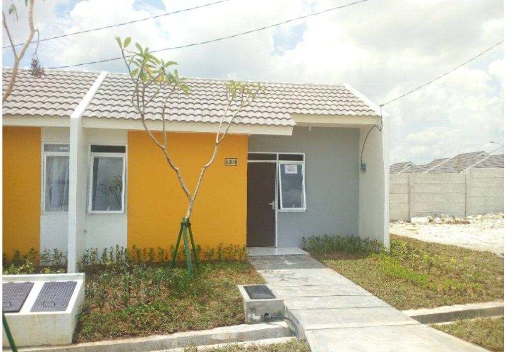 Contoh rumah sederhana yang ditawarkan di CitraMaja Raya (Foto: Yudiasis Iskandar/HousingEstate)