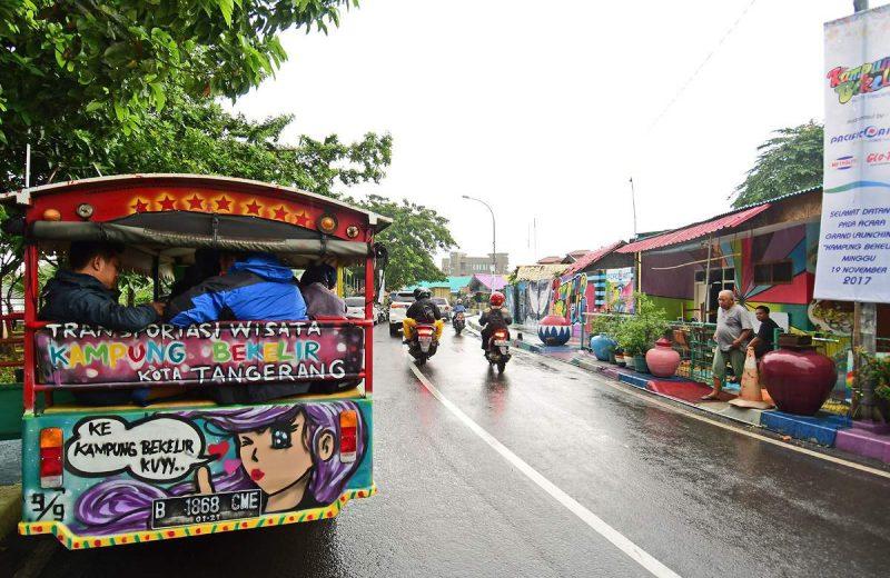 Suasana Kampung Bekelir di RW 01, Kelurahan Babakan, yang menjadi destinasi wisata baru di Kota Tangerang (Foto: Susilo Waluyo/HousingEstate)