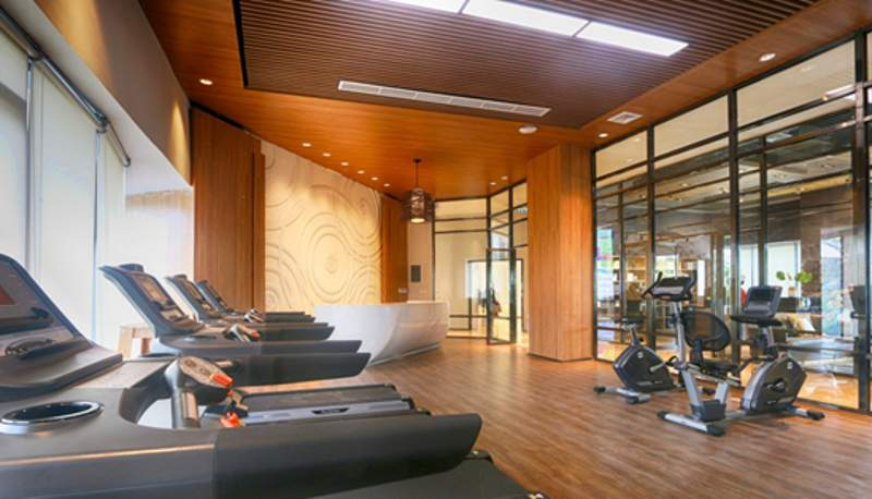 Ruang fitness di dalam kantor pemasaran Sky House BSD+ (Foto: Dok. Sky House)
