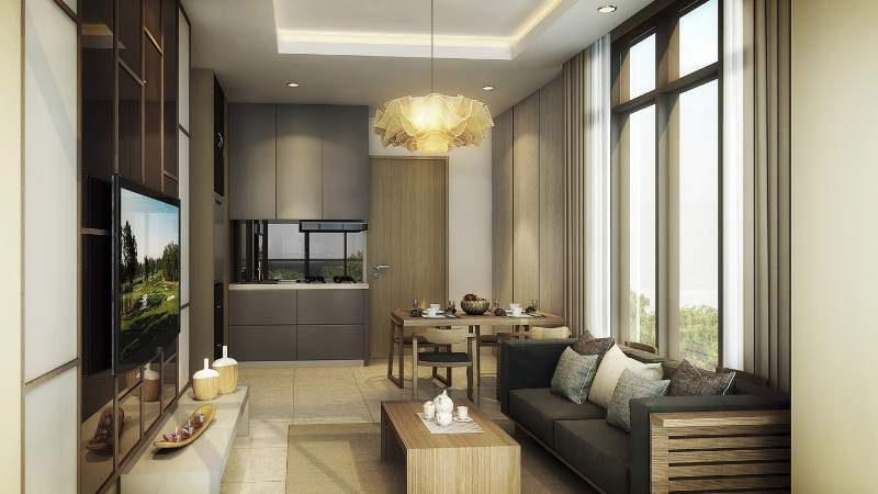 Gambar artis interior unit apartemen Kawana Residence