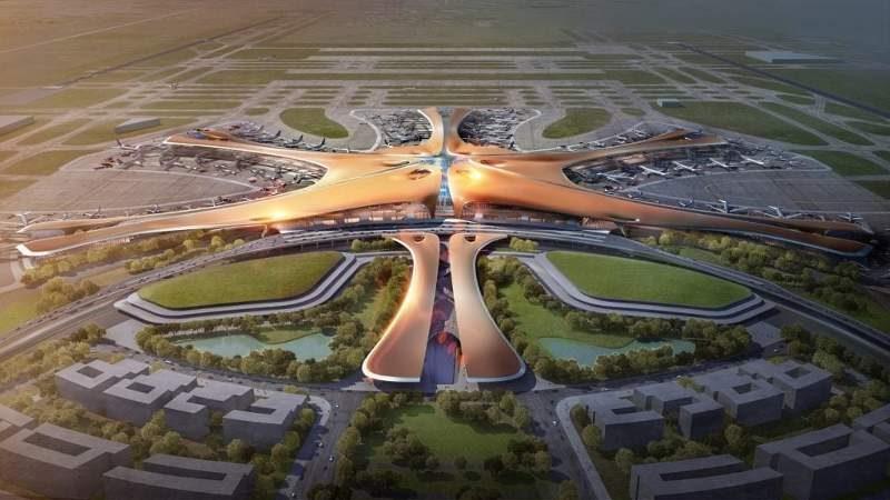 Gambar artis bandara Beijing Daxing International di China seluas 7,5 juta m2 yang mampu menampung 100 juta orang per tahun. Konstruksinya ditargetkan rampung pertengahan 2019. (Foto: Dok. Gree Electric Appliance Indonesia)