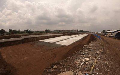 Proses pembangunan jalan tol Cimanggis-Cibitung yang melewati kawasan Kota Wisata Cibubur, Jl Transyogi, Gunung Putri, Bogor (Jawa Barat). (Foto: Dok. Sinar Mas Land)