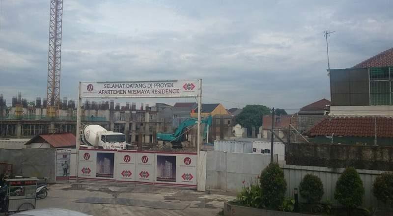Pembangunan apartemen Wismaya Residence di Kota Bekasi, Jawa Barat. (Foto: Putri/housing-estate.com)