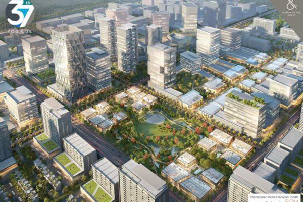 Gambar masterplan kawasan pusat bisnis atau bakal CBD Kota Harapan Indah (2.200 hektar), proyek terbesar Damai Putra Group di Bekasi, Jawa Barat (foto: Dok. Damai Putra Group)