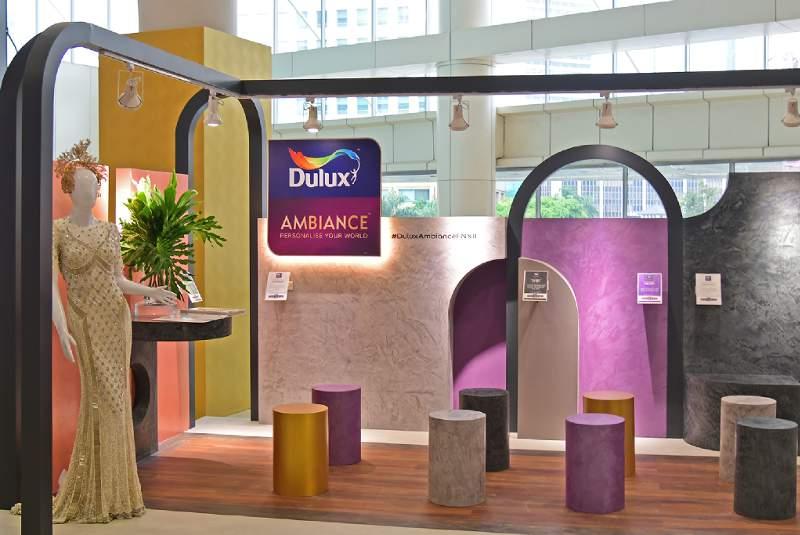 Dulux Ambiance pop up booth yang dirancang desainer interior Yuni Jie. (Foto: HousingEstate/Susilo Waluyo)