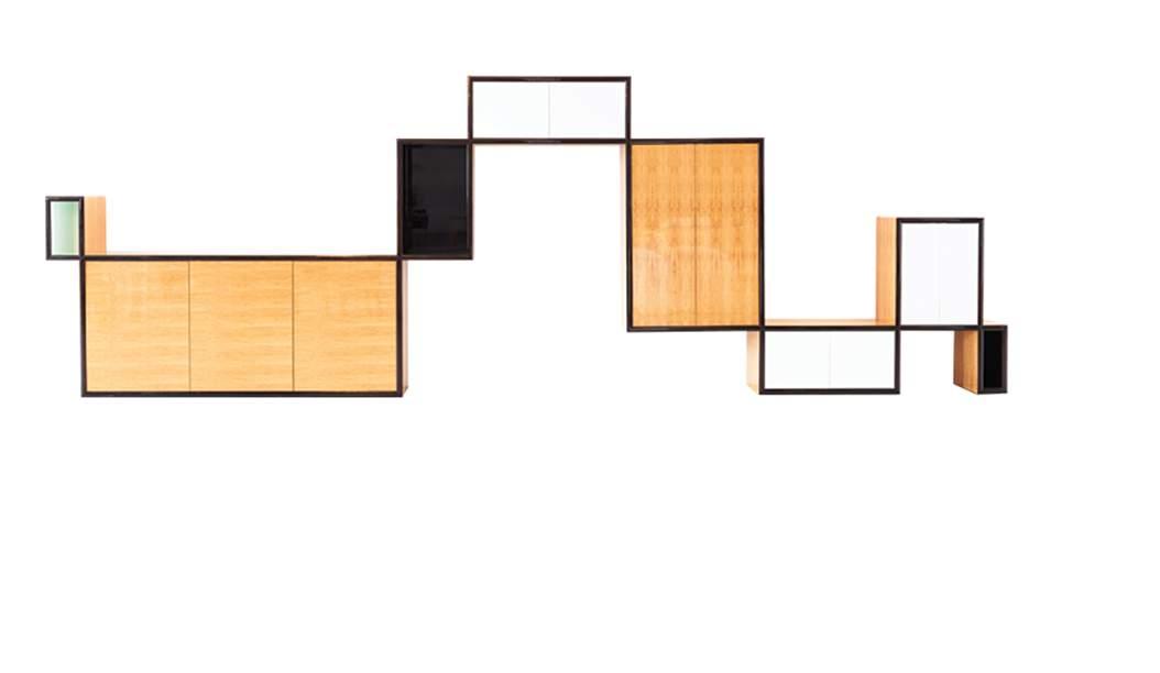 Highs & Lows Unit. Terbuat dari satinwood asal Srilangka dan kayu eboni asal Makassar plus lacquer. (Foto: Pitt-PollaroCollection)