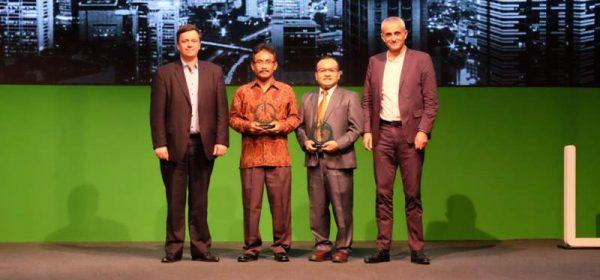 Country President Schneider Electric Indonesia Xavier Denoly (paling kanan) dalam acara pembukaan Innovation Summit yang diadakan Schneider Indonesia di Jakarta, Rabu (18/4/2018). (Foto: Dok Schneider Indonesia)