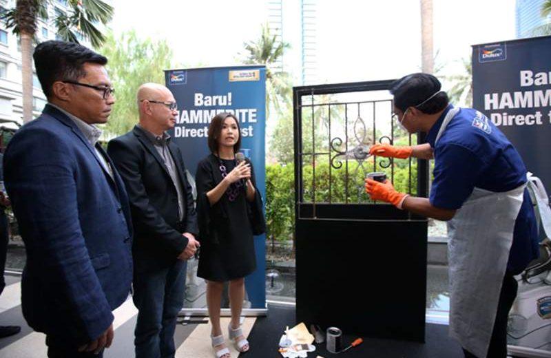 Demo aplikasi produk baru cat anti karat Hammerite dari AkzoNobel (Foto : AkzoNobel)