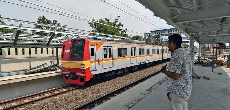 Progress pembangunan Stasiun Telaga Murni