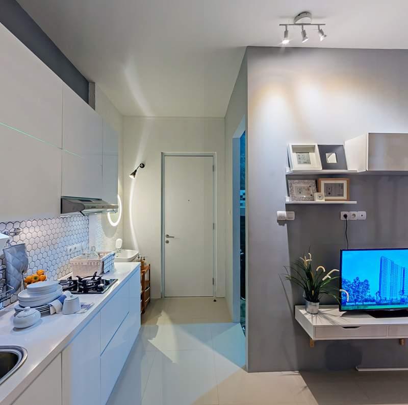 Suasana salah satu sudut di dalam unit contoh apartemen Bintaro Plaza Residences (foto: dok JRP).