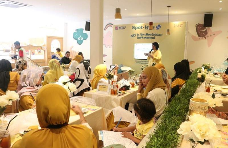 "Suasana acara ""Nippon Spot-less Plus & Art in the Montessori Environment (foto: dok Nippon Paint)."