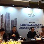 Konferensi pers national launching phase II Jakarta & Makassar untuk tower kedua Vasanta Innopark, proyek superblok dari PT Sirius Surya Sentosa di dalam kawasan industri MM2100 di Cibitung, Bekasi-Jawa Barat (foto: HousingEstate/Diyah)